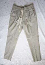 NWOT J. CREW Women's Wool Viscose Dress Jogger Pants in Light Heather Gray Sze 4