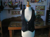 Superbe Gilet Femme Bleu Nuit Taille L - Made IN Italy