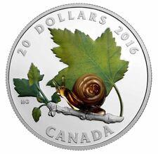 2016 Canada $20 - Murano Venetian Glass - Snail - Silver Coin - Ag - 1 oz