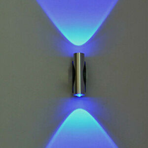 Double-headed LED Wall Lamp Home Sconce Bar Porch Wall Decor Ceiling Light Blue.