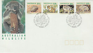 AUSTRALIA 13 AUGUST 1992 AUSTRALIAN WILDLIFE OFFICIAL FIRST DAY COVER SHS