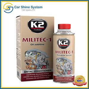 K2 MILITEC 1 OIL ADDITIVE FRICTION REDUCER METAL CONDITIONER ENGINE REVITALISER
