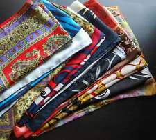 Job Lot 10 Patterns Art Nouveau Printed Vintage Scarf Lot Group Mixed Colours