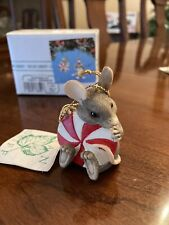 Charming Tails Ornament - Peppermint Party Ornament With Box