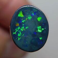 Australia Natural Oval Loose Black Opals