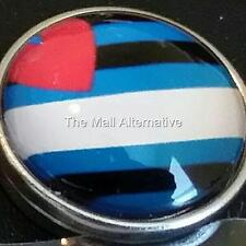 Gay Pride, Leather Pride 20 mm snap button, USA Seller