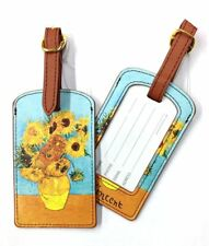 "Luggage Tag -""Vase of Sunflowers""  by Van Gogh - Easy to spot your bag!"