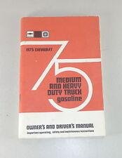 Owner's Manual/manual de instrucciones de Chevrolet Truck camiones Medium/Heavy Duty