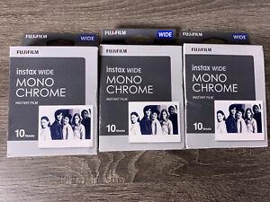 3 Packs Of Fujifilm Instax Wide Monochrome Film - 30 Exposures