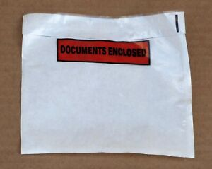1000 Document Enclosed Labels Wallets A6 (112mmx162mm)