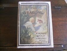 THE YEARLING, Marjorie Kinnan Rawlings, SIGNED, N.C.Wyeth illus, HCDJ 1947