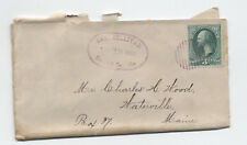 1882 East Sullivan Me fancy county name marking on 3ct banknote cover [y3133]