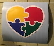 Autism Puzzle Heart Decal For Your Yeti Rambler Tumbler