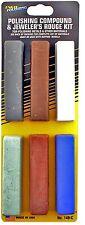 Enkay Polishing Compound Set - 4 oz Bars Buffing & Jeweler's Rouge Kit 149-C New