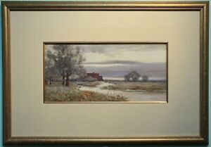 Original Watercolour Painting ON THE STOUR Robert Winchester Fraser (1848-1906)