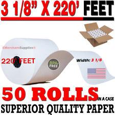 3 1 8 x 220 Thermal Receipt Paper POS Cash Register Rolls 50 Rolls FREE SHIPPING