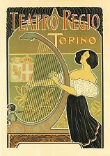 Art Nouveau Style Advertising Print  'Teatro Regio...'