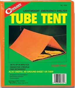 EMERGENCY TUBE TENT ROOM FOR 2 SETS UP QUICKLY FIRE RETARDANT! ONLY ONE POUND