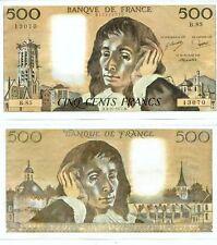 500 FRANCS PASCAL du 3-11-1977    B. 85