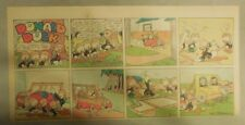 Donald Duck Sunday Page by Walt Disney from 8/1/1943 Third Page Size