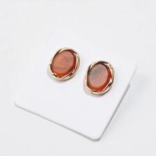 501ec01404bc Moda Vintage Rojo Marrón Piedra De Oro Plata Pendientes Simples Estilo Zara  tachuelas.