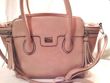 David Jones (Paris) Pink Coss-Body Shoulder Bag Purse Faux Leather