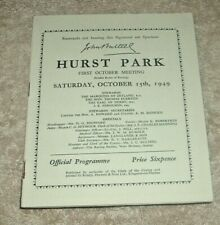 More details for hurst park race card 15th october 1949 + plus some losing tote tickets