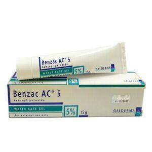 2x BENZAC AC 5% Gel 60g Benzoyl Peroxide Acne Pimple Galderma