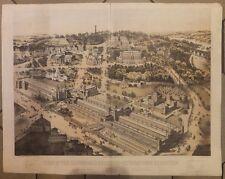 Lithographie exposition universelle de 1876 International Exhibition Batiments