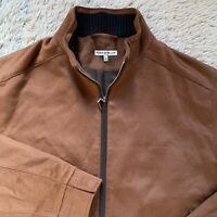 Peter Millar Large Brown Westport Jacket Wool Cashmere Blend Lined L