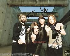 "Shinedown band Reprint Signed 8x10"" Photo #3 RP ALL 4 Members Brent Smith"