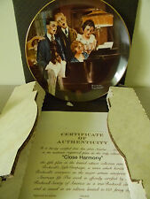 "Rockwell's Light Campaign- ""Close Harmony"" - Collector Plate-Ge"