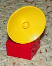LEGO - Duplo Satellite Dish / Radar Dish - Yellow w/ Red Base