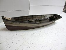 "Rustic red white blue 14.5""  Wood ROW BOAT Skif Dory CANOE model rowboat skiff"