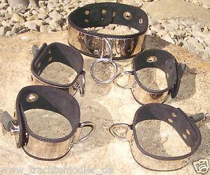 Fessel kombination set bound.de neckcollar handcuff anklecuff Handschellen