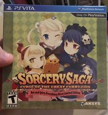 SORCERY SAGA CURSE OF THE GREAT CURRY GOD LIMITED EDITION PS VITA FACTORY SEALED