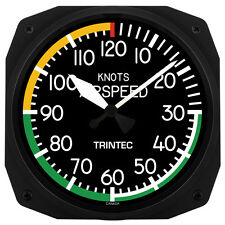"Trintec 10"" Airspeed Indicator Aviation Instrument Style Wall Clock - 3061-10"