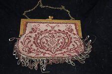 Antique Bead Woven Hand Bag