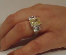 925 STERLING SILVER LADIES FILIGRAM WEDDING DESIGNER RING/W 9ct DIAMOND SZ 5-9