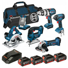 BOSCH BAG+6RS 18V 6 PIECE CORDLESS KIT 4 X 4.0AH COOLPACK 0615990G84 BRAND NEW