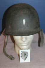 Rare Original WW2 U.S. Army Lt's Marked & Named Combat M1 Helmet & Related Photo
