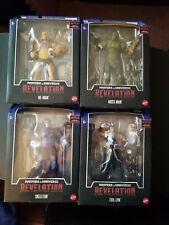 HE-MAN Masters of the Universe Revelation Masterverse MotU lot of 4 Wave 1