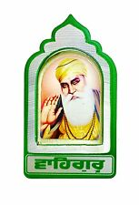Guru Nanak Dev Ji Adhesivo Metal gurú Sikh de Adhesivo Pegatina Adhesivo - 6cm X 4cm