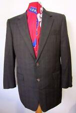 Hickey Freeman 40R Loro Piana Tasmanian Super 120s Microcheck Charcoal Suit