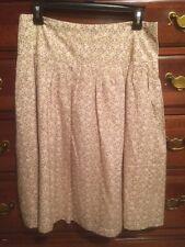 Soft Floral Printed Knee Length Skirt Sz 6