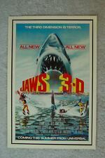 Jaws 3D Lobby Card Movie Poster Denis Quaid