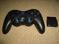 SONY PLAYSTATION 2 PS2 LOGITECH WIRELESS CONTROLLER in Black Cordless Game Pad
