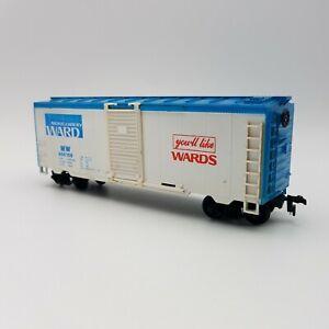 HO Scale Montgomery Ward Steel Box Car Life-Like MW 956159 White Blue