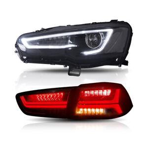 Audi Style Headlights&Tail Lights For MITSUBISHI LANCER CF CJ EVO X 2007-2017