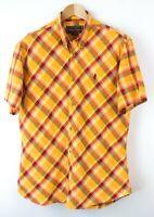 Marlboro Classique Hommes Carreaux Chemise Décontractée Taille XL SZ73